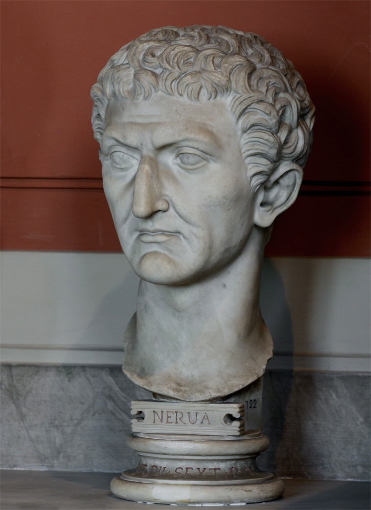 Nerva. Marble. 96—98 CE. Inv. No. 722. Rome, Vatican Museums, Pius-Clementine Museum, Gallery of the Busts, 131