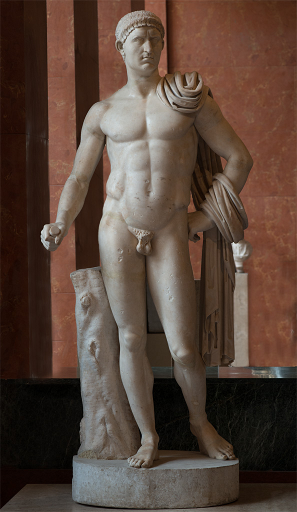 Emperor Otho as a nude hero. Marble. 69 CE. Inv. No. Ma 1215. Paris, Louvre Museum