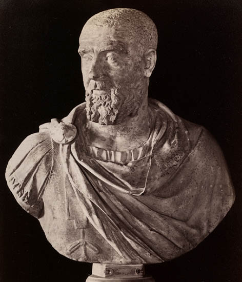 Maximus Pupienus. Marble. Rome, Capitoline Museums, Palazzo Nuovo, Hall of the Emperors