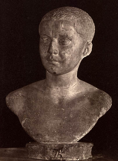 Saloninus, the son of Gallienus. Marble. Rome, Capitoline Museums, Palazzo Nuovo, Hall of the Emperors