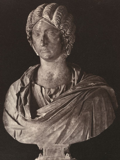 Julia Pia, the second wife of Septimius Severus. Marble. Rome, Capitoline Museums