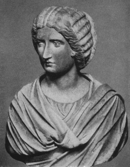 Bust of Julia Domna. Marble. Late 2nd century — early 3rd centuries CE. Rome, Capitoline Museums, Palazzo Nuovo, Hall of the Emperors