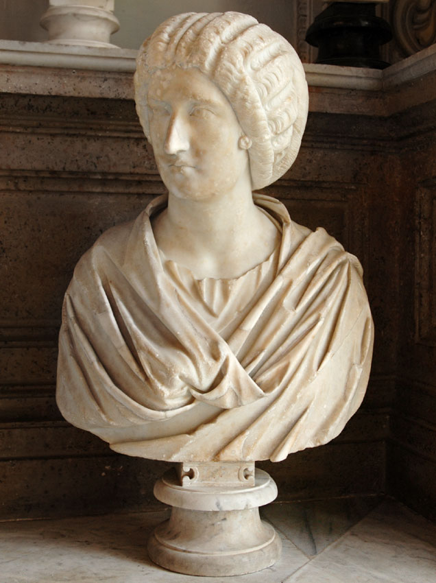 Female bust (Julia Domna?). Marble. Ca. 200 CE. Inv. No. MC280. Rome, Capitoline Museums, Palazzo Nuovo, Hall of the Emperors