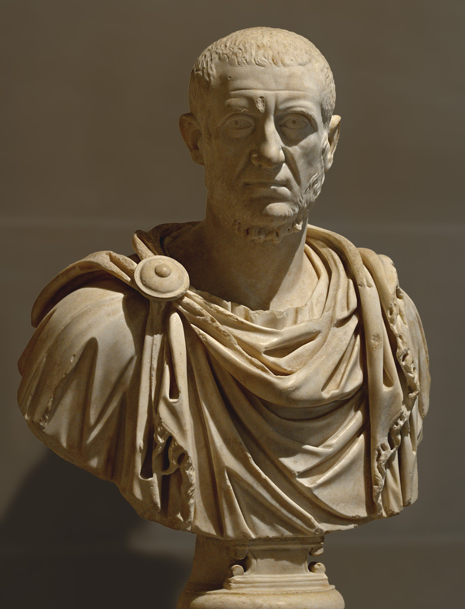 Marcus Claudius Tacitus, the Emperor. Marble. 275-276 CE. Inv. No. MR 558 / Ma 1018. Paris, Louvre Museum
