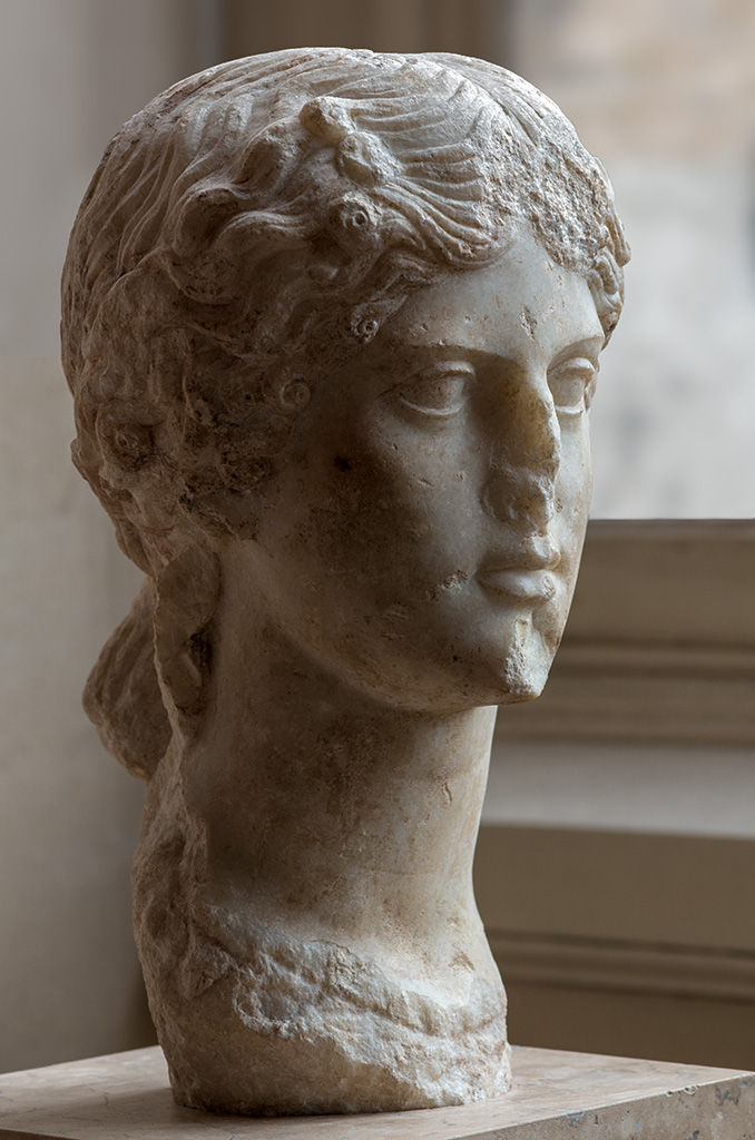Portrait of Agrippina the Elder. Marble. 37—41 CE.  Inv. No. MA 3133, MND 848. Paris, Louvre Museum