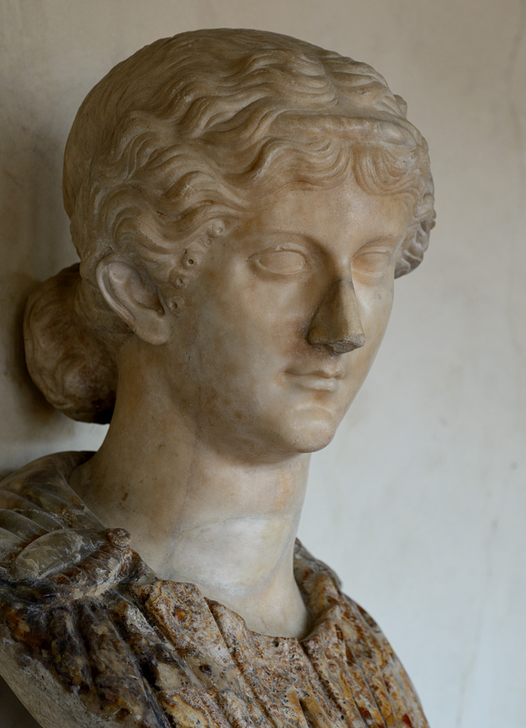 Agrippina the Elder. Head: Greek marble, 1st cent. CE. The bust is modern. Inv. No. 546 (1914). Florence, Gallery of Uffizi
