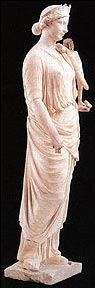 Statue of Antonia the Younger. Marble. Baia, Archaeological Museum of the Phlegraean Fields