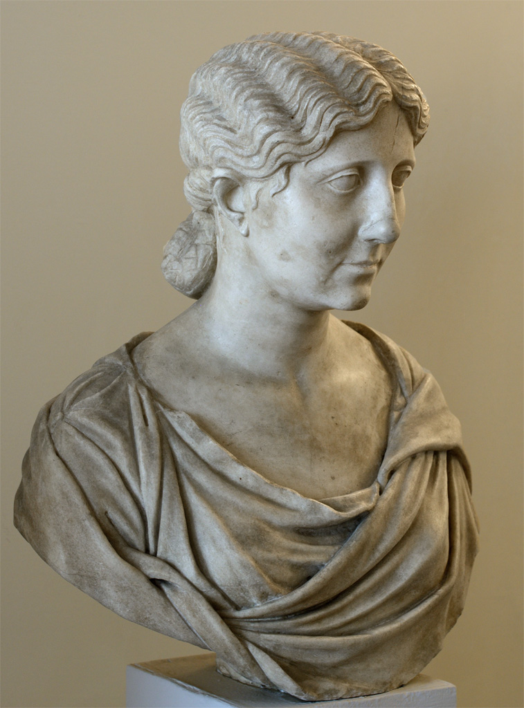 Antonia Minor. Pentelic marble. 40—60 CE, restoration of the 16th century.  Inv. No. 243. Venice, National Archaeological Museum
