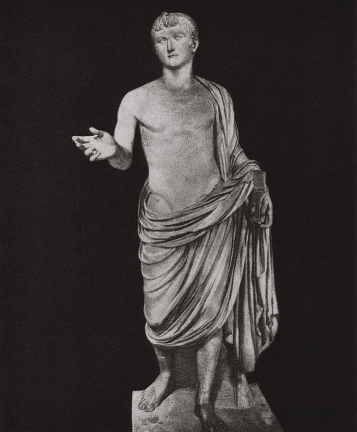 Statue of Germanicus from Gabii. Marble. Ca. 20s CE. Paris, Louvre Museum