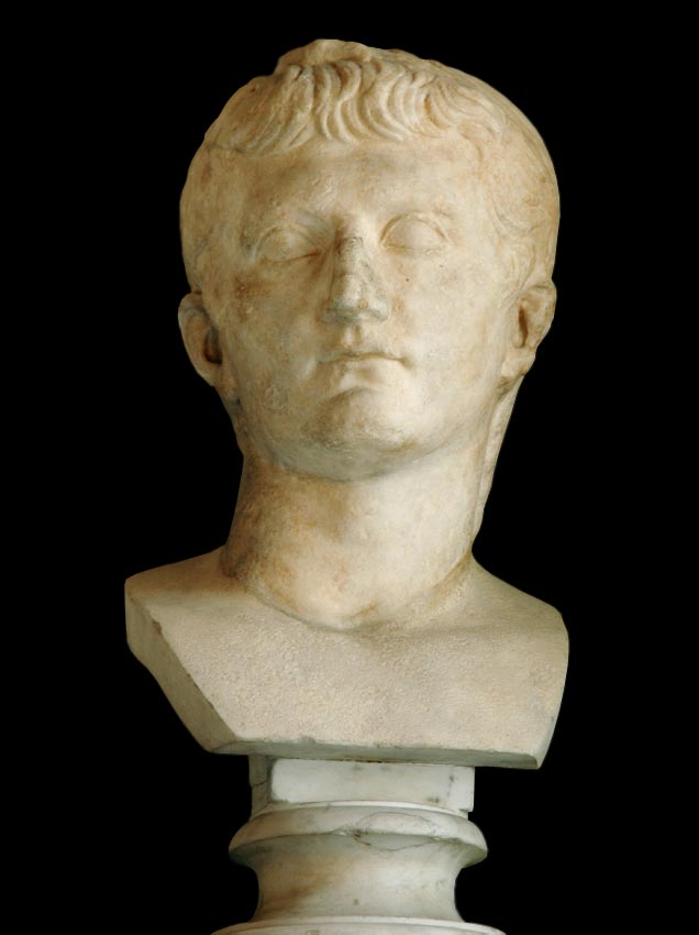 Head of Germanicus. Marble. 15—19 CE. Height 44 cm. Inv. No. MC415. Rome, Capitoline Museums, Palazzo Nuovo, Hall of the Emperors
