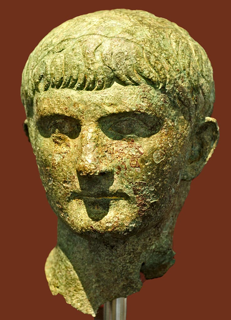 Head of Germanicus. Bronze. Tiberian period. Rome, Roman National Museum, Palazzo Massimo alle Terme