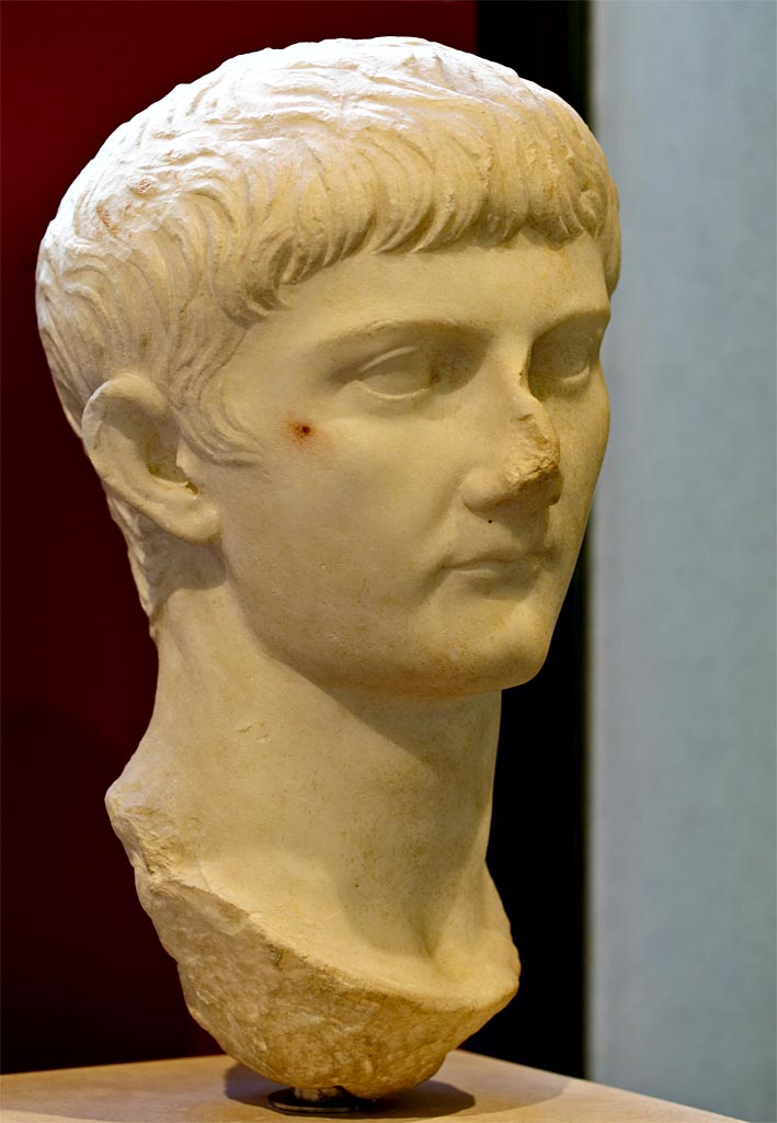 Head of Germanicus. Marble. Tiberian period. Rome, Roman National Museum, Palazzo Massimo alle Terme