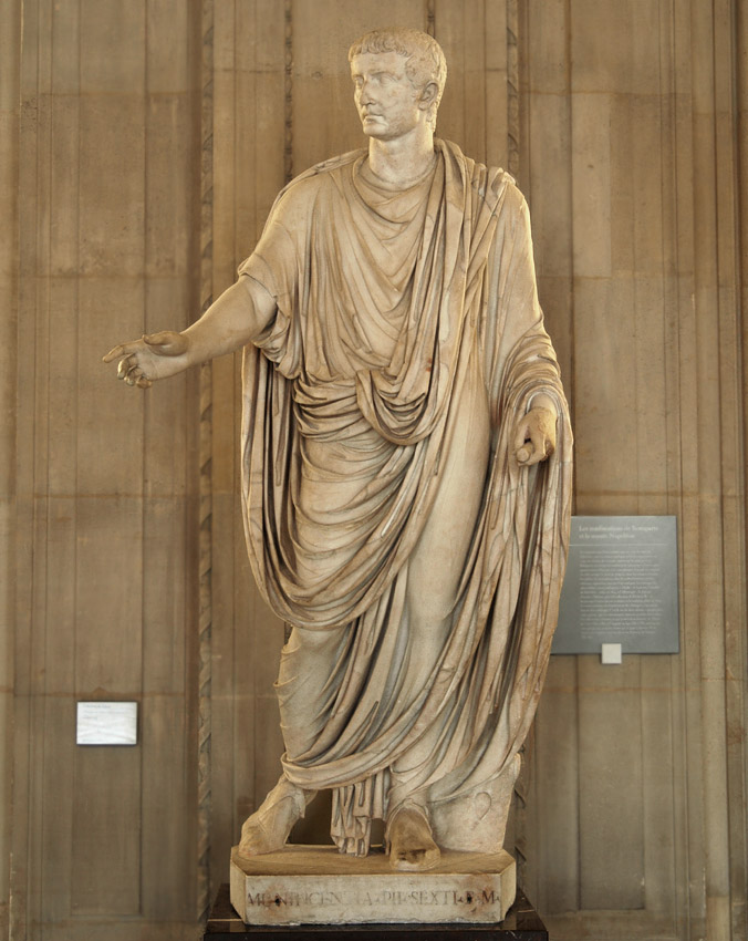 Statue of Tiberius in toga. Marble. Inv. No. MR 355 (Ma 1248). Paris, Louvre Museum