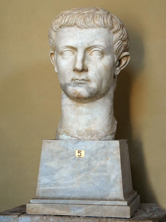 Colossal head of Tiberius. Marble. Posthumous portrait, 41—54 CE. Inv. No. 1642. Rome, Vatican Museums, Chiaramonti Museum, XXIX. 5