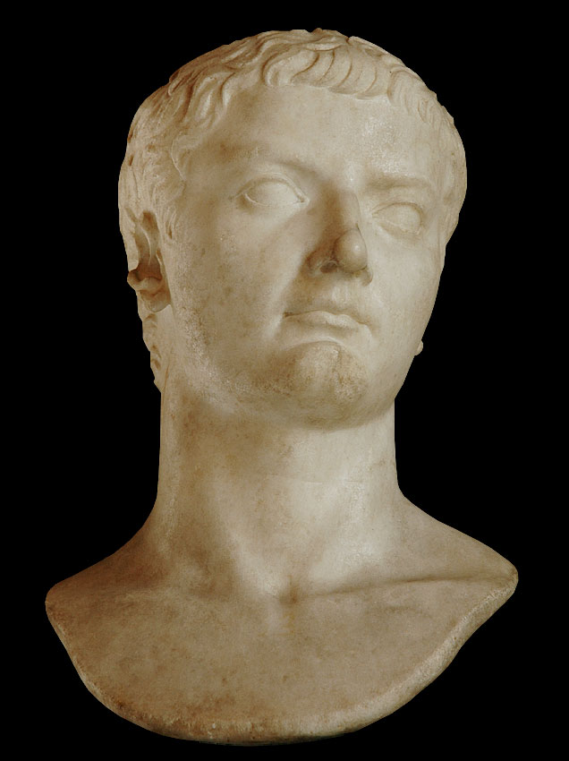 Head of Tiberius. Marble. 4—14 CE. Height 60 cm. Inv. No. MC283. Rome, Capitoline Museums, Palazzo Nuovo, Hall of the Emperors