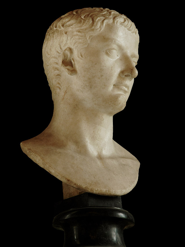 Head of Tiberius. Marble. 4—14 CE.  Inv. No. MC 283. Rome, Capitoline Museums, Palazzo Nuovo, Hall of the Emperors