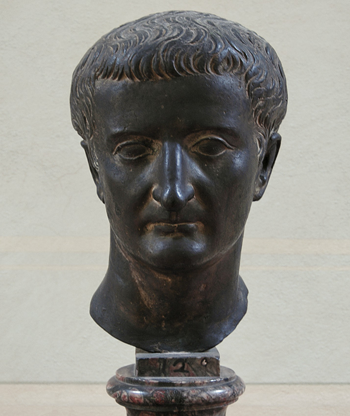 Portrait of Tiberius. Bronze. 14—37 A.C. Inv. No. 1641. Florence, National Archaeological Museum