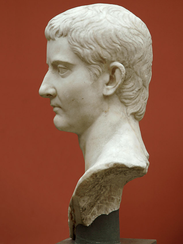 Bust of Tiberius. Marble. Copy of beginning of the 1st century CE after an original of 20—12 BCE.  Inv. No. 1445. Copenhagen, New Carlsberg Glyptotek