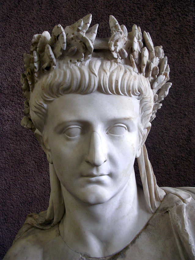 Tiberius. Detail of the statue. Marble. Mid 1st century CE. Inv. No. 9961. Rome, Vatican Museums, Gregorian Profane Museum