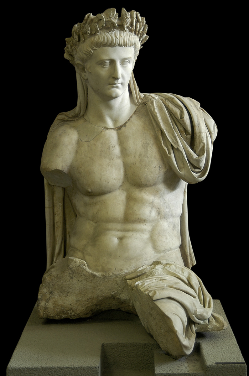 The seated statue of Tiberius as Jupiter Capitolinus. Marble. Mid-1st century CE. Inv. No. 9961. Rome, Vatican Museums, Gregorian Profane Museum