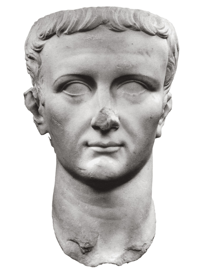 "Posthumous portrait of Tiberius. Type ""Berlin—Naples—Sorrento"". White marble. 37—54 CE. Inv. No. FAN. 92. 00. 214. Arles, Museum of Ancient Arles"