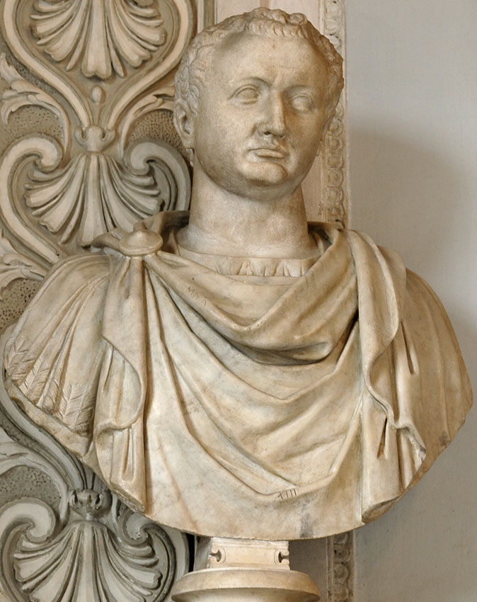 Titus. Marble. 79—81 CE. Height 92 cm. Inv. No. MC433. Rome, Capitoline Museums, Palazzo Nuovo, Hall of the Emperors