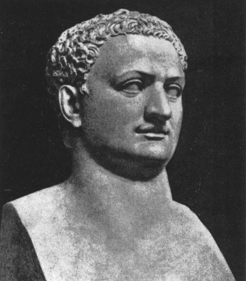 Portrait of Titus. Marble. Flavian period. Naples, National Archaeological Museum