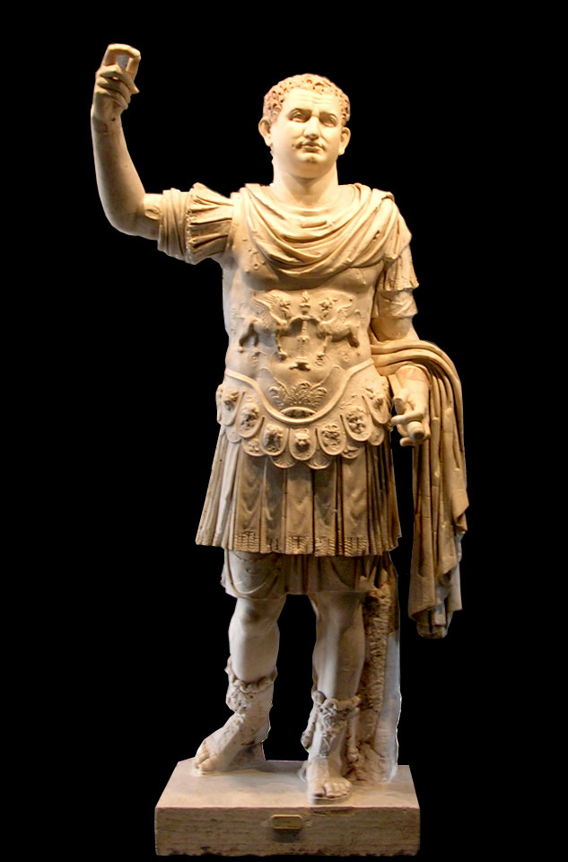 Cuirassed statue of Titus. White marble. 79 CE. Inv. No. 6059. Naples, National Archaeological Museum