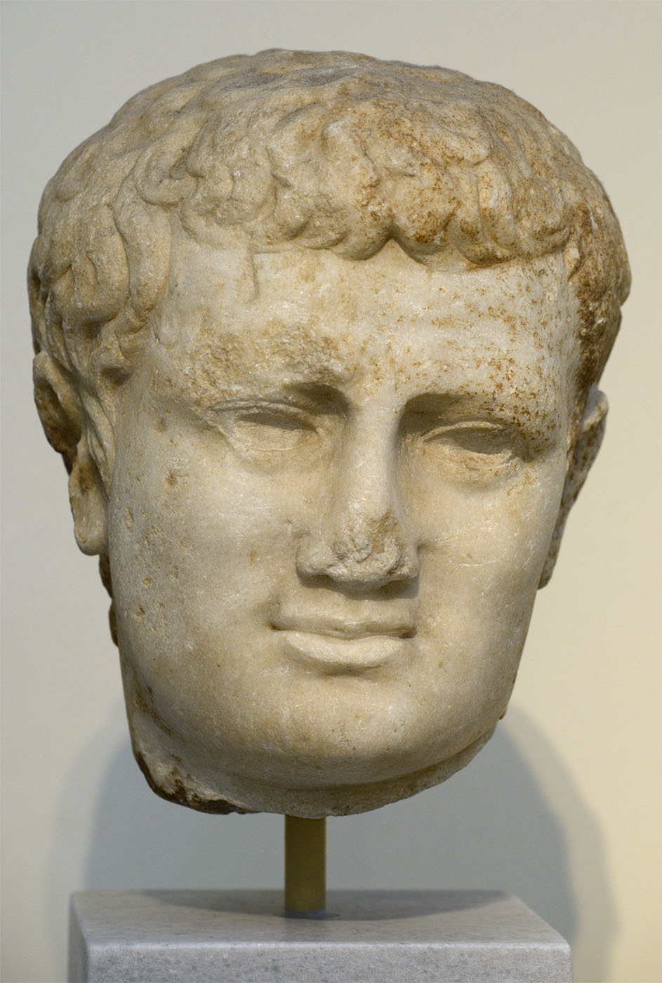 Portrait head of Titus. Pentelic marble. 79-81 CE. Inv. No. 348. Athens, National Archaeological Museum