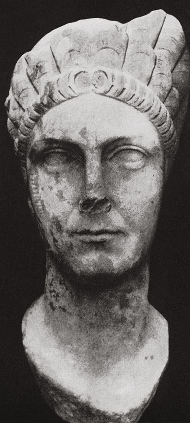 Head of Marciana. Marble. Ca. 110—120's CE. Ostia, Archaeological Museum