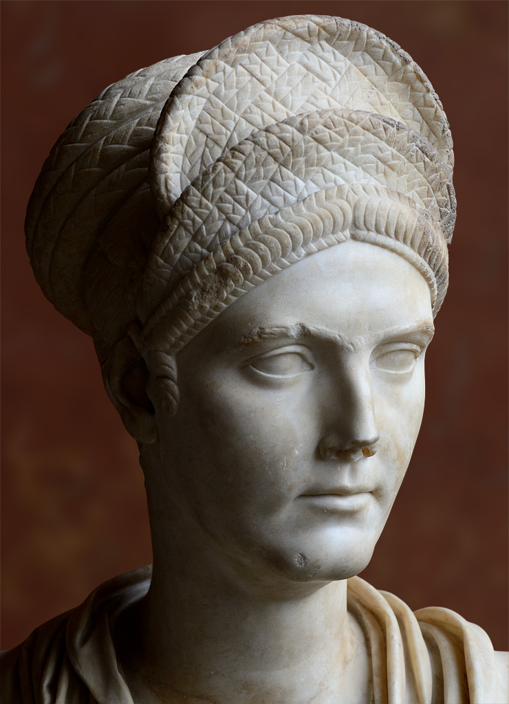 Bust of Matidia, the niece of Trajan. Marble. Ca. 112 CE. Inv. No. Ma 1196. Paris, Louvre Museum
