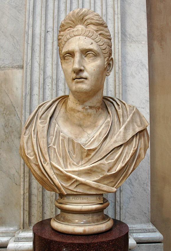 Colossal portrait of Plotina. Marble. Inv. No. 240. Rome, Vatican Museums, Pius-Clementine Museum, Round Room, 20