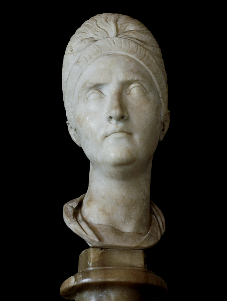 Plotina, the wife of Trajan. Marble. 98—117 CE. Inv. No. MC439. Rome, Capitoline Museums, Palazzo Nuovo, Hall of the Emperors