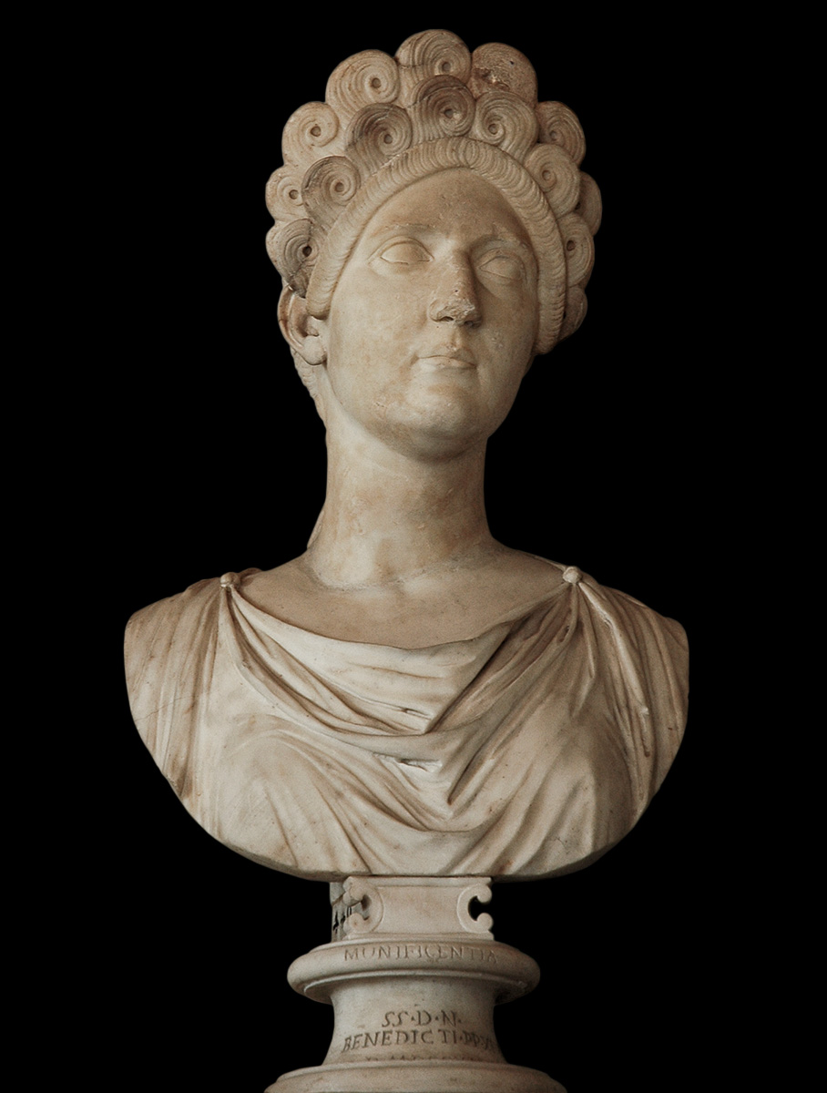 Plotina (?). Marble. Ca. 112 CE. Inv. No. MC440. Rome, Capitoline Museums, Palazzo Nuovo, Hall of the Emperors