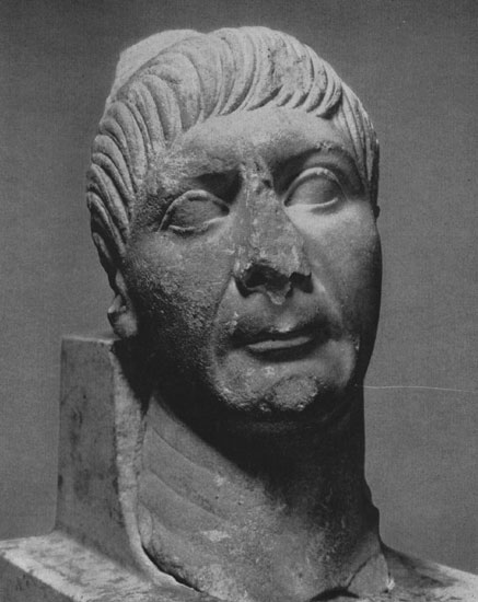 Portrait of Trajan. Marble. Early 2nd century. Moscow, the Pushkin Museum of Fine Arts
