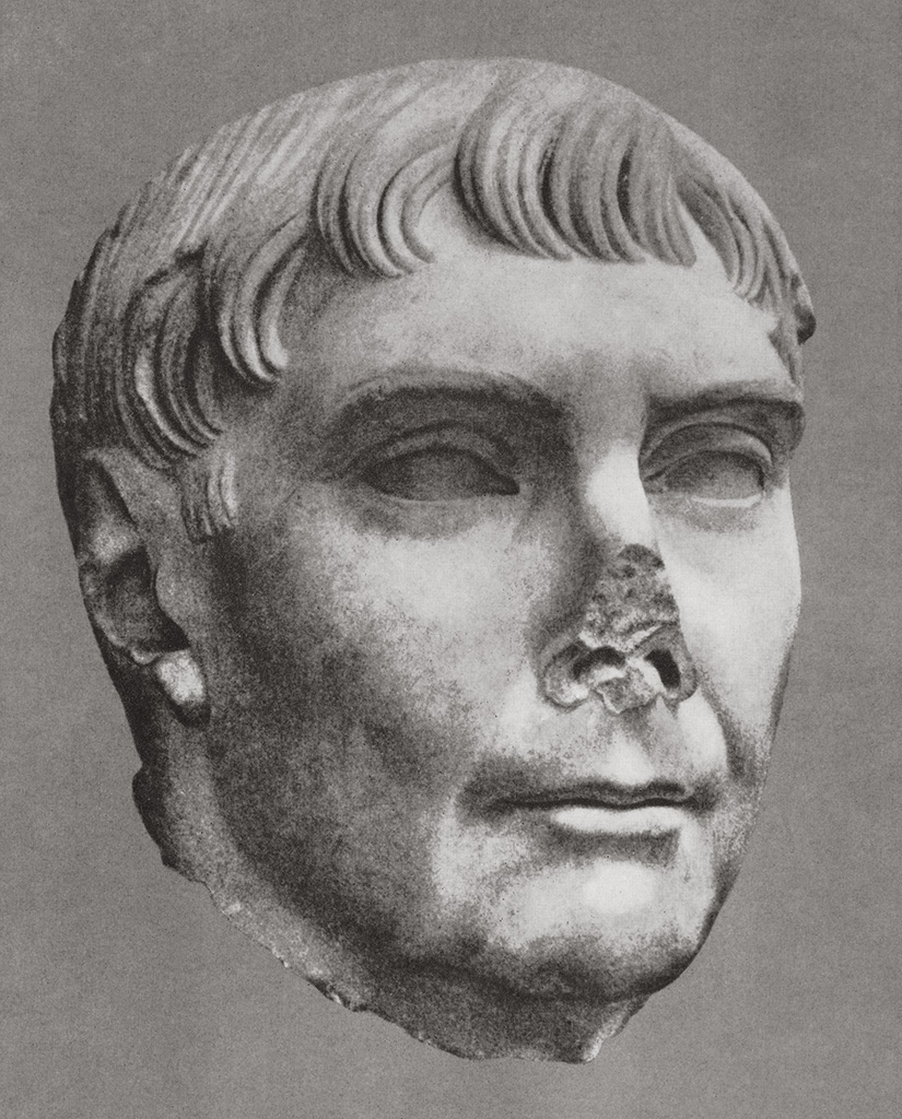 Head of Trajan from Ostia. Marble. Ca. 120 CE. Ostia, Archaeological Museum
