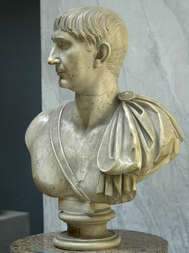Bust of emperor Trajan. Marble. 103—117 CE. Inv. No. 2269. Rome, Vatican Museums, Chiaramonti Museum, New wing, 41
