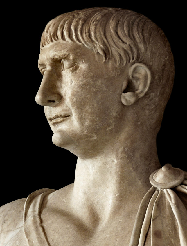 Trajan. Marble. 98—117 CE. Inv. No. MC276. Rome, Capitoline Museums, Palazzo Nuovo, Hall of the Emperors