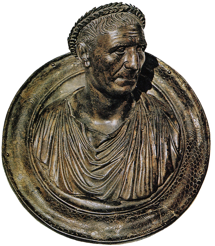 Bust of Trajan as an old man. Bronze. About 117 CE. Ankara, Archaeological Museum