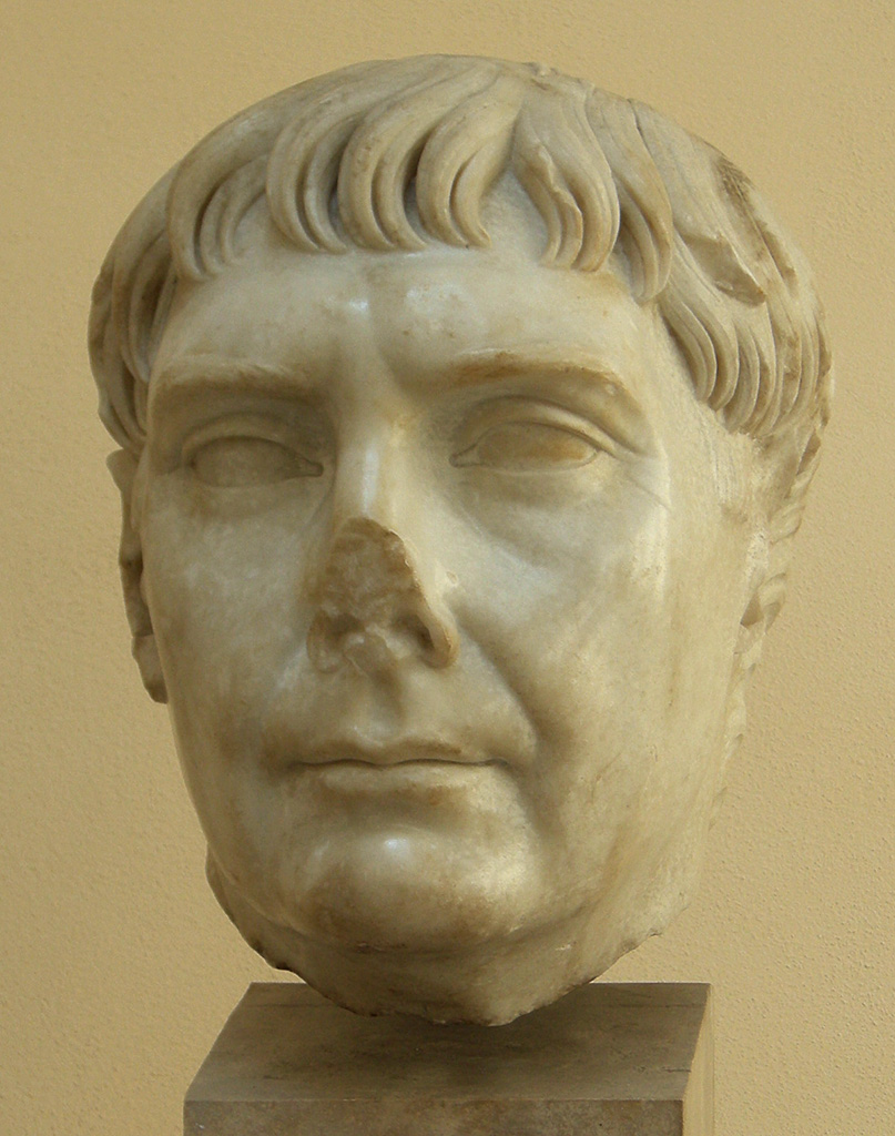 Trajan. Luni marble. 2nd century. Inv. No. 17. Ostia, Archaeological Museum