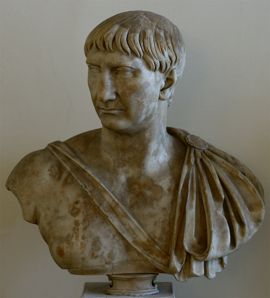 Trajan. Marble. Ca. 108 CE.  Inv. No. 5. Venice, National Archaeological Museum