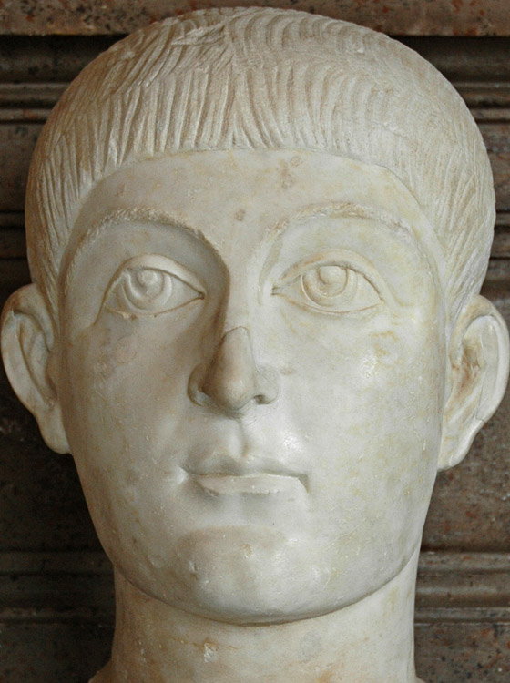 Valens II or Honorius. Marble. 364—376; 395—423. Inv. No. MC494. Rome, Capitoline Museums, Palazzo Nuovo, Hall of the Emperors