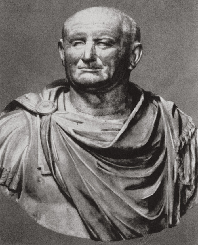 Bust of Vespasian. Marble. Ca. 70 CE. Florence, Gallery of Uffizi