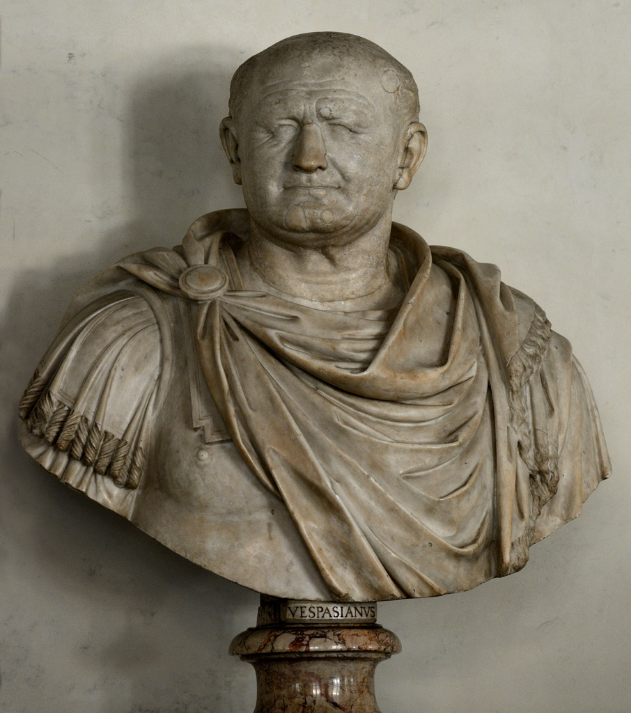 Bust of Vespasian. Marble. Ca. 70 CE. Inv. No. 127 (1914). Florence, Gallery of Uffizi