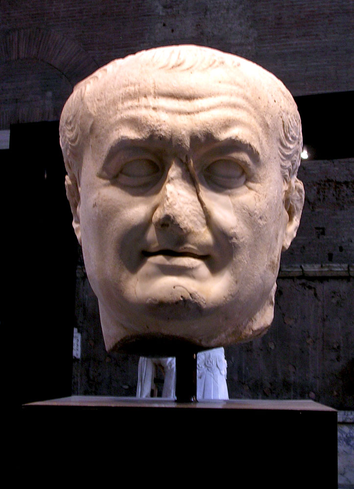 Colossal Head Of Vespasian Naples National