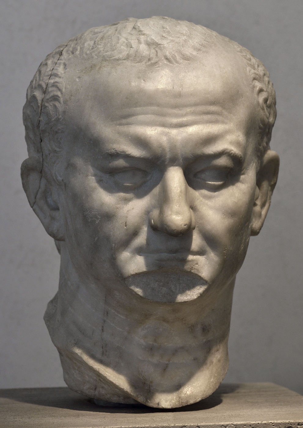Portrait of Vespasian. Marble. Second half of the 1st century CE. Inv. No. 330. Rome, Roman National Museum, Palazzo Massimo alle Terme