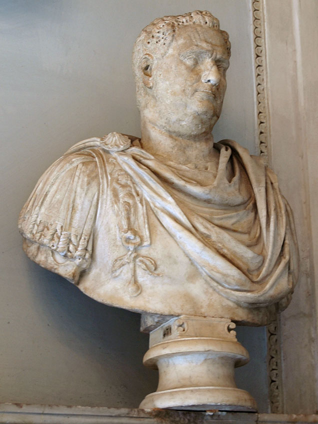 Male portrait. Marble. 1st—2nd centuries.  Inv. No. MC431. Rome, Capitoline Museums, Palazzo Nuovo, Hall of the Emperors