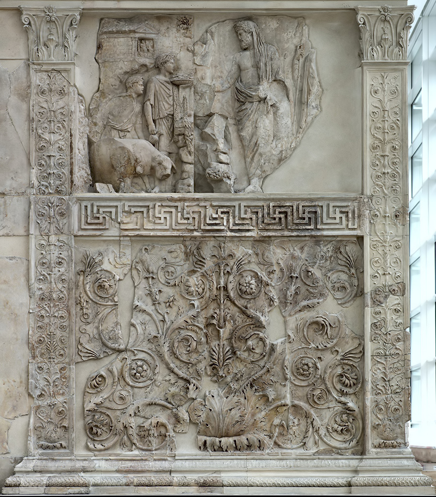Right part of the west facade of the Ara Pacis.  Rome, Museum of the Altar of Augustan Peace (Ara Pacis Augustae)