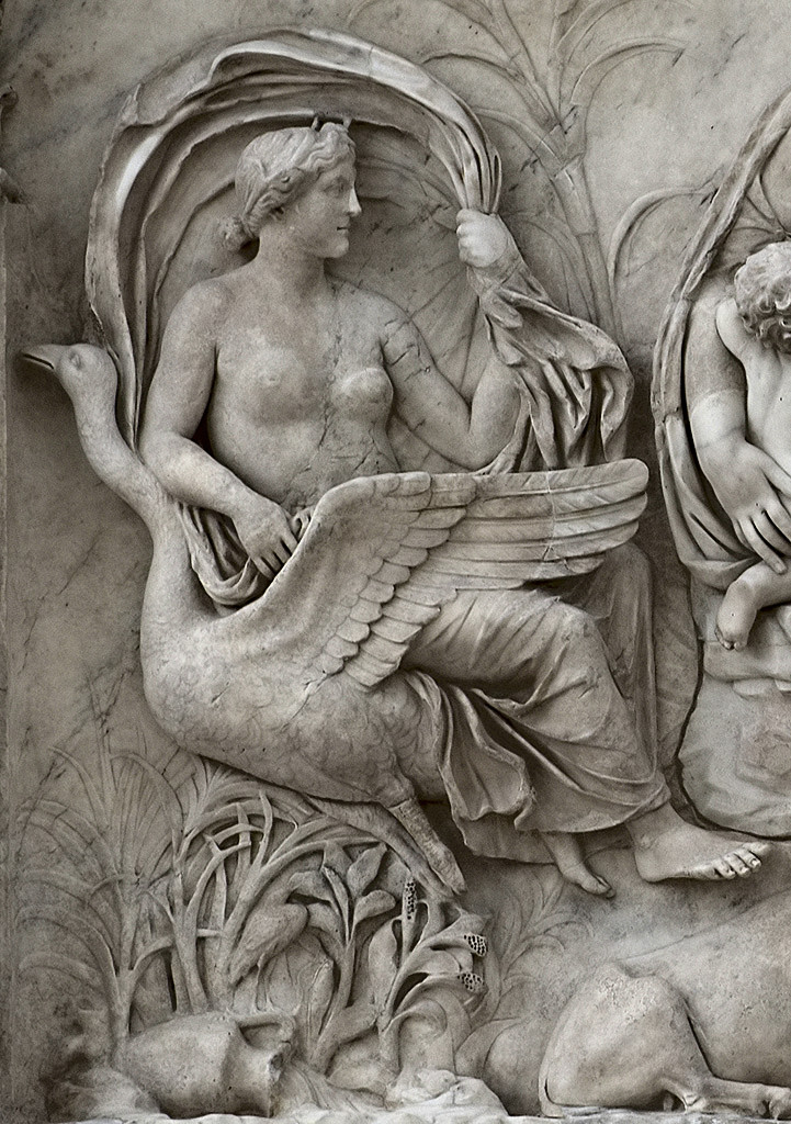 Panel of Tellus (close-up). Left part of the east facade of the Ara Pacis Augustae (upper panel). Marble. Rome, Museum of the Altar of Augustan Peace (Ara Pacis Augustae)