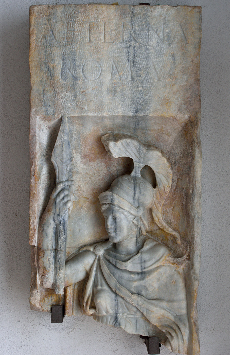 "Relief ""Aeterna Roma"". Marble. Mid-2nd century CE. Baia, Archaeological Museum of the Phlegraean Fields"